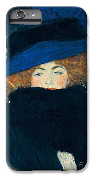 Lady With A Hat And A Feather Boa IPhone 6 Plus Case by Gustav Klimt