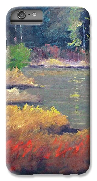 IPhone 6 Plus Case featuring the painting Lagoon by Nancy Merkle