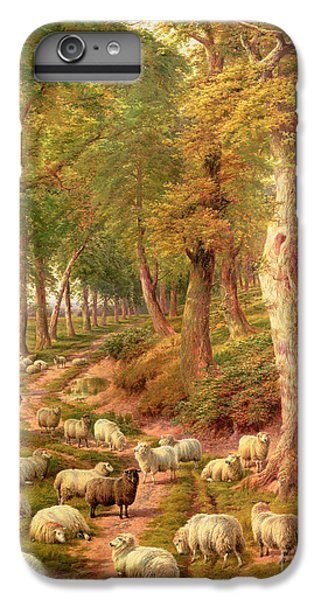 Rural Scenes iPhone 6 Plus Case - Landscape With Sheep by Charles Joseph