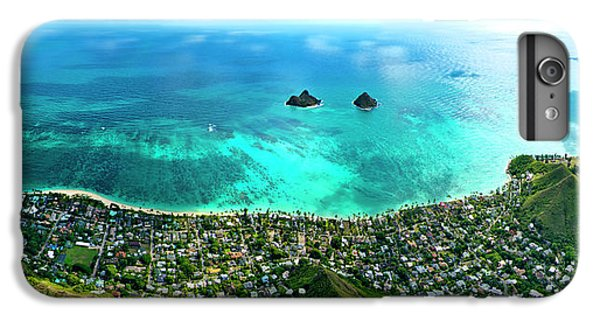 Helicopter iPhone 6 Plus Case - Lanikai Over View by Sean Davey