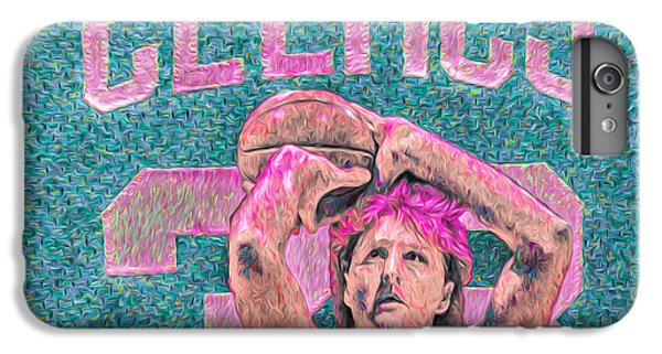 Larry Bird Boston Celtics Digital Painting Pink IPhone 6 Plus Case by David Haskett