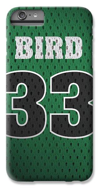 Larry Bird Boston Celtics Retro Vintage Jersey Closeup Graphic Design IPhone 6 Plus Case