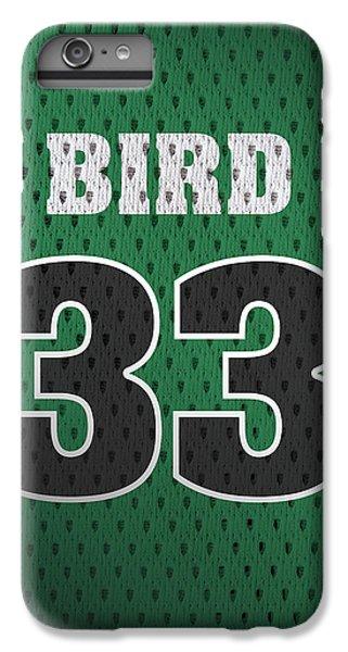 Larry Bird Boston Celtics Retro Vintage Jersey Closeup Graphic Design IPhone 6 Plus Case by Design Turnpike