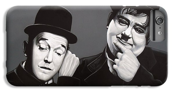 Laurel And Hardy IPhone 6 Plus Case by Paul Meijering