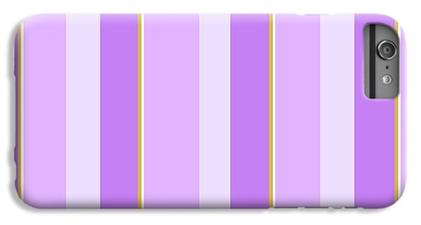 IPhone 6 Plus Case featuring the mixed media Lavender Stripe Pattern by Christina Rollo