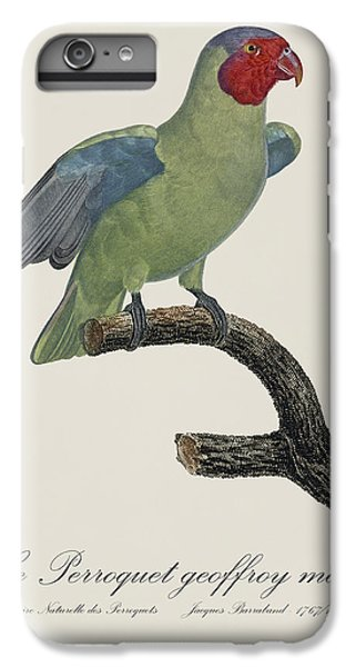 Le Perroquet Geoffroy Male / Red Cheeked Parrot - Restored 19th C. By Barraband IPhone 6 Plus Case by Jose Elias - Sofia Pereira