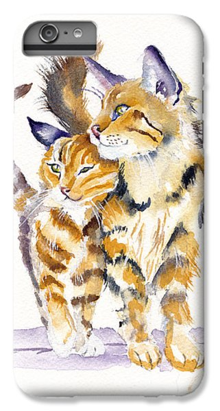 Cat iPhone 6 Plus Case - Lean On Me by Debra Hall