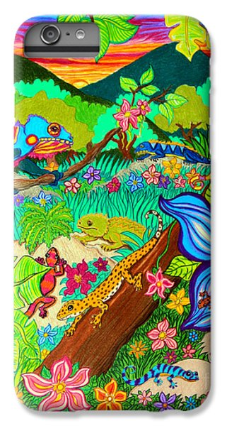 Salamanders iPhone 6 Plus Case - Leapin Lizards by Nick Gustafson