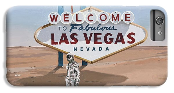 IPhone 6 Plus Case featuring the painting Leaving Las Vegas by Scott Listfield