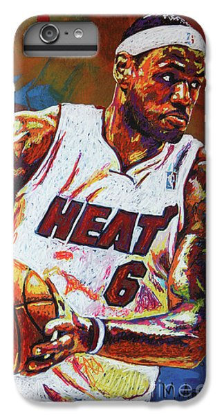 Lebron James 3 IPhone 6 Plus Case by Maria Arango