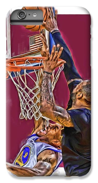 Lebron James Cleveland Cavaliers Oil Art IPhone 6 Plus Case by Joe Hamilton