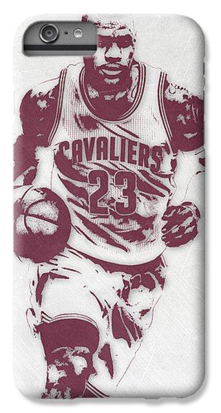 Lebron James Cleveland Cavaliers Pixel Art 4 IPhone 6 Plus Case by Joe Hamilton