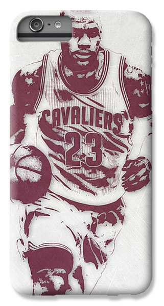 Lebron James Cleveland Cavaliers Pixel Art 4 IPhone 6 Plus Case by Joe Hamilton