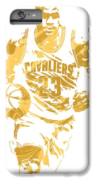 Lebron James Cleveland Cavaliers Pixel Art 7 IPhone 6 Plus Case by Joe Hamilton