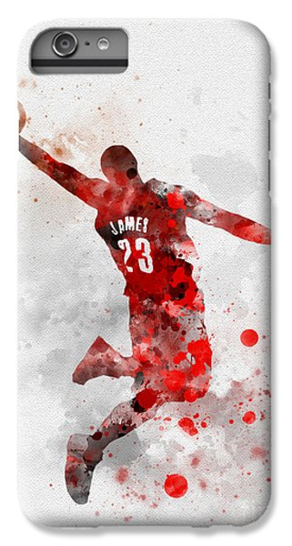 Lebron James IPhone 6 Plus Case by Rebecca Jenkins