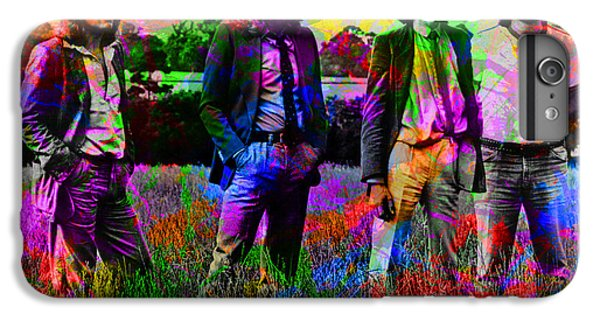 Led Zeppelin Band Portrait Paint Splatters Pop Art IPhone 6 Plus Case