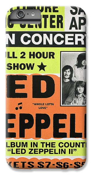 Rock Music Jimmy Page iPhone 6 Plus Case - Led Zeppelin Concert Poster 1970 by Daniel Hagerman