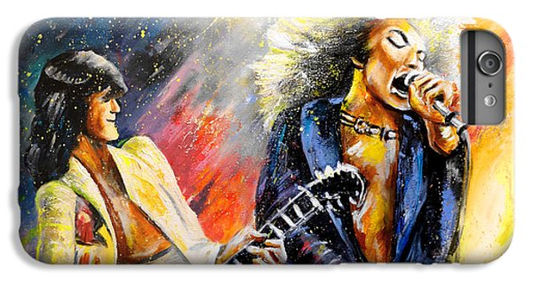 Rock Music Jimmy Page iPhone 6 Plus Case - Led Zeppelin Passion by Miki De Goodaboom