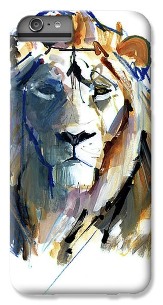 Lion Head iPhone 6 Plus Case - Leo by Mark Adlington