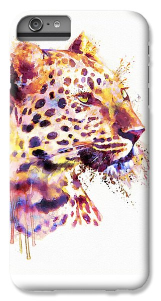 Leopard Head IPhone 6 Plus Case by Marian Voicu