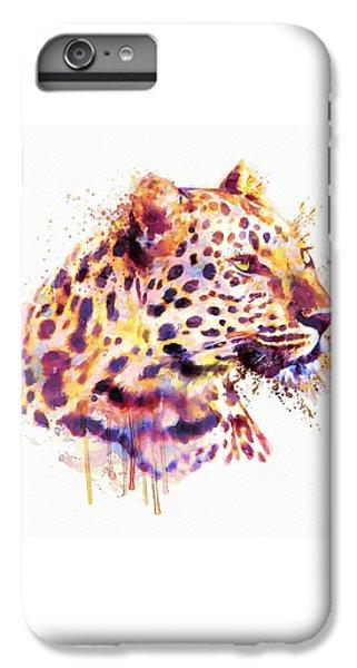 Leopard Head IPhone 6 Plus Case by Marian Voicu