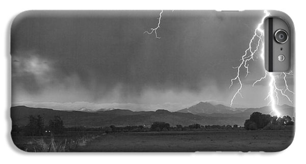 Lightning Striking Longs Peak Foothills 5bw IPhone 6 Plus Case