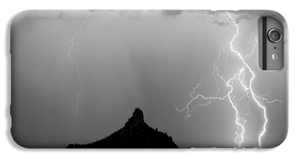 Lightning Thunderstorm At Pinnacle Peak Bw IPhone 6 Plus Case by James BO  Insogna