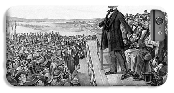 Lincoln Delivering The Gettysburg Address IPhone 6 Plus Case by War Is Hell Store
