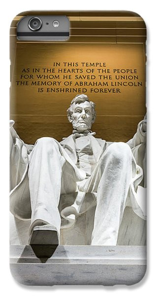 Lincoln Memorial iPhone 6 Plus Case - Lincoln Memorial 2 by Larry Marshall