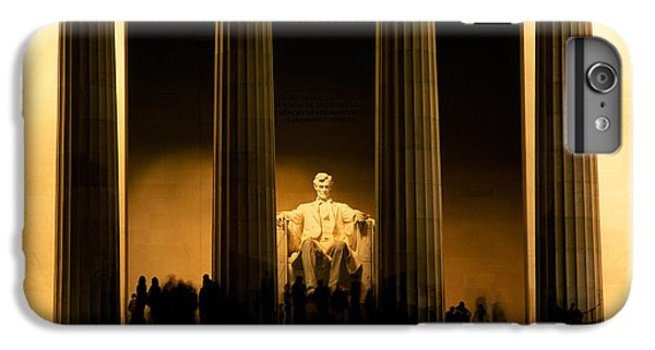 Lincoln Memorial Illuminated At Night IPhone 6 Plus Case by Panoramic Images