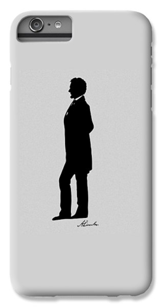 Lincoln Silhouette And Signature IPhone 6 Plus Case by War Is Hell Store