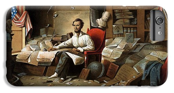 Lincoln Writing The Emancipation Proclamation IPhone 6 Plus Case by War Is Hell Store