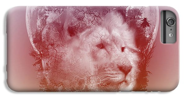 Lion Head iPhone 6 Plus Case - Lion 3 by Bekim M