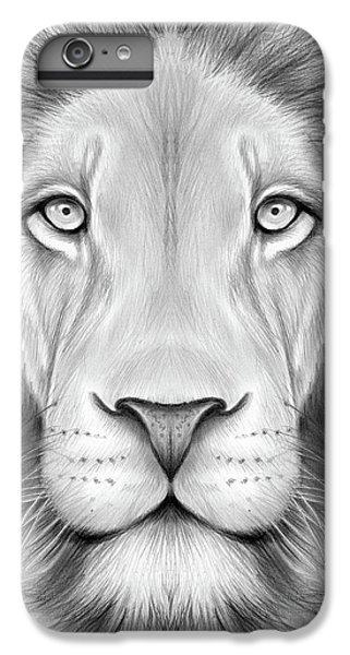 Lion Head iPhone 6 Plus Case - Lion Head by Greg Joens