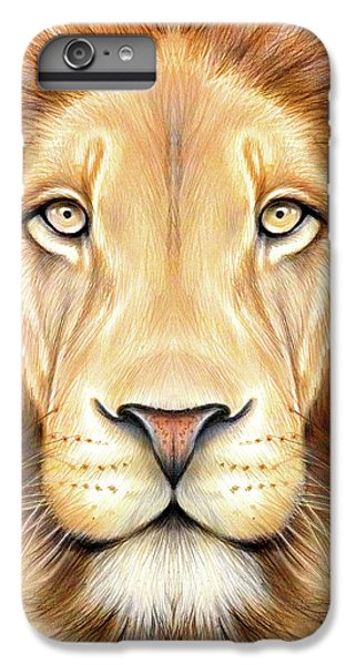 Lion Head iPhone 6 Plus Case - Lion Head In Color by Greg Joens