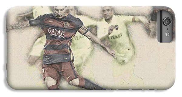 Wayne Rooney iPhone 6 Plus Case - Lionel Messi Scores A Penalty Kick Against Levante  by Don Kuing