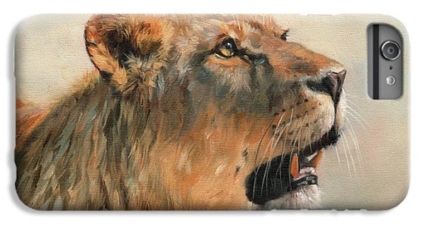 Lion Head iPhone 6 Plus Case - Lioness Portrait 2 by David Stribbling