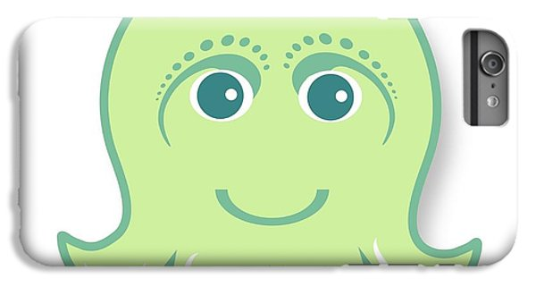 iPhone 6 Plus Case - Little Cute Green Octopus by Ainnion