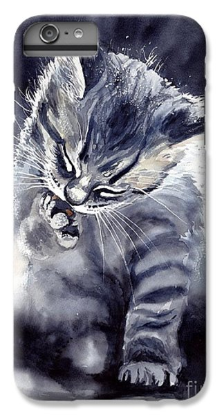 Fairy iPhone 6 Plus Case - Little Grey Cat by Suzann's Art