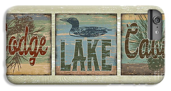 Lodge Lake Cabin Sign IPhone 6 Plus Case by Joe Low