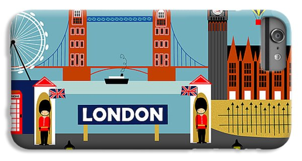 London Eye iPhone 6 Plus Case - London England Horizontal Scene - Collage by Karen Young