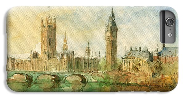 London Parliament IPhone 6 Plus Case by Juan  Bosco