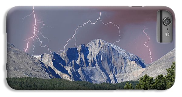 Longs Peak Lightning Storm Fine Art Photography Print IPhone 6 Plus Case by James BO  Insogna