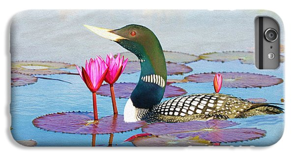Loon iPhone 6 Plus Case - Loon And Lotus by Laura D Young