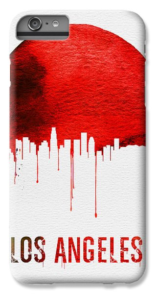 Los Angeles Skyline Red IPhone 6 Plus Case by Naxart Studio