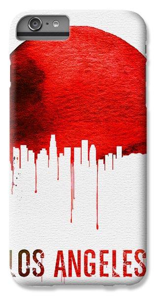 Los Angeles Skyline Red IPhone 6 Plus Case by Naxart Studio