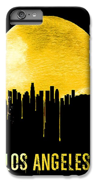 Los Angeles Skyline Yellow IPhone 6 Plus Case by Naxart Studio