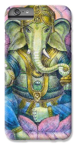 Elephant iPhone 6 Plus Case - Lotus Ganesha by Sue Halstenberg