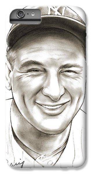 New York Yankees iPhone 6 Plus Case - Lou Gehrig by Greg Joens