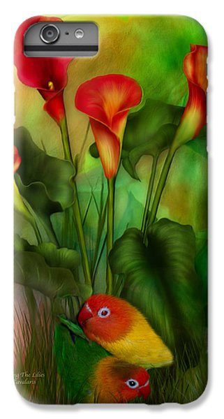 Lovebird iPhone 6 Plus Case - Love Among The Lilies  by Carol Cavalaris